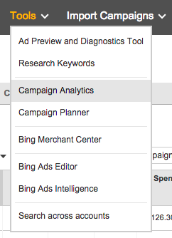 Bing Campaign Analytics