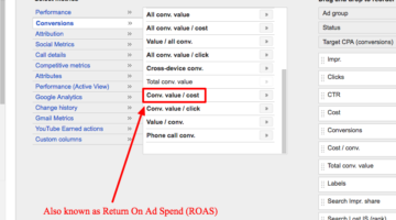 How to Track ROAS in AdWords (Return on Ad Spend)